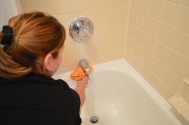 Removing hard water buildup